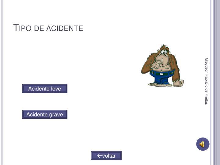 Tipo de acidente