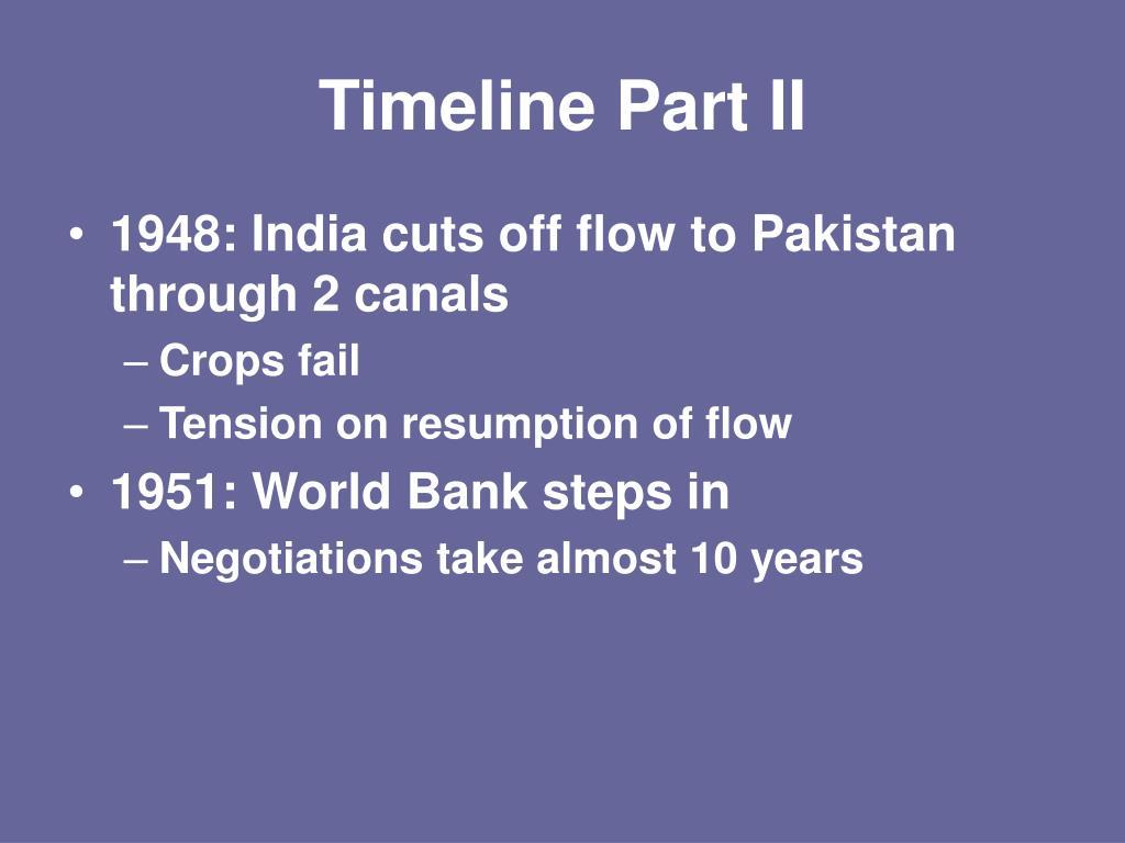 Timeline Part II