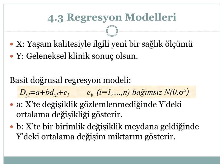 4.3 Regresyon Modelleri