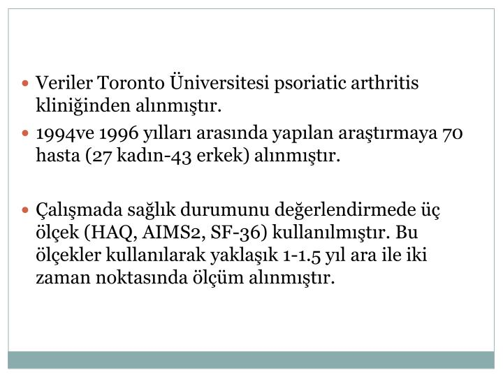 Veriler Toronto Üniversitesi