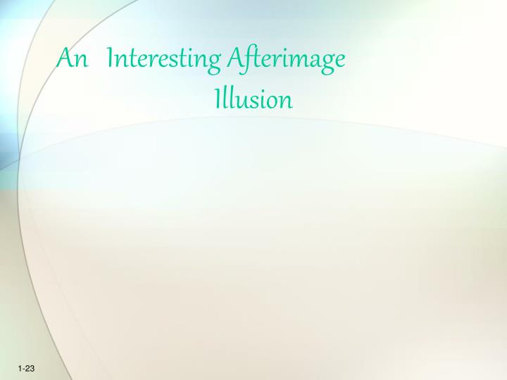 An   Interesting Afterimage          Illusion