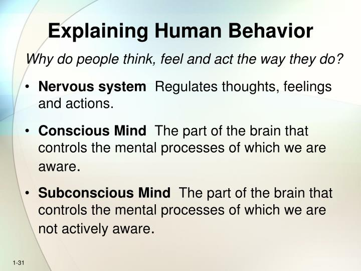 Explaining Human Behavior