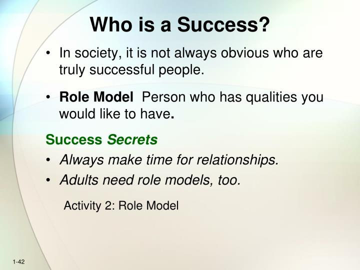 Who is a Success?