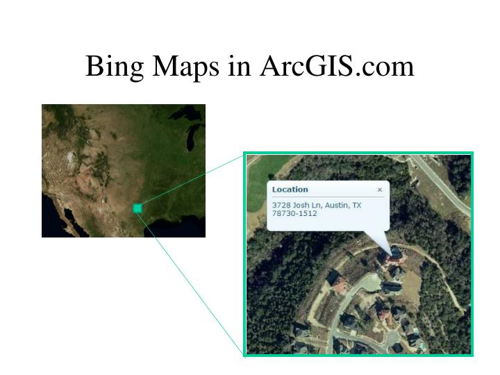Bing Maps in ArcGIS.com