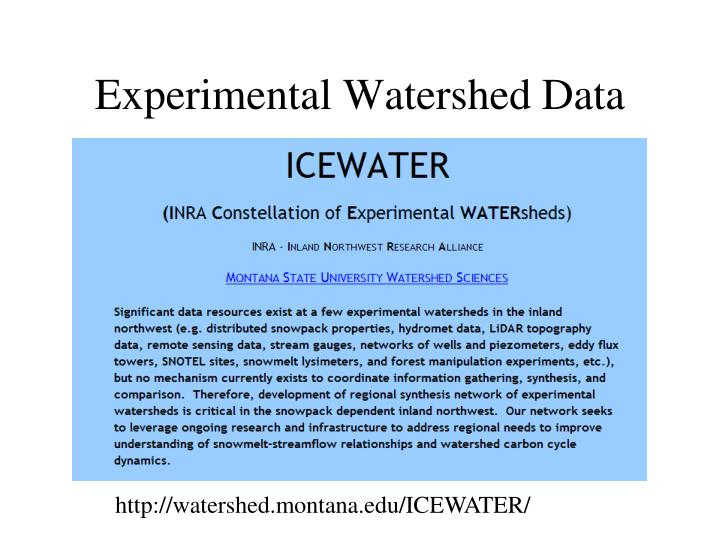 Experimental Watershed Data