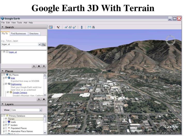 Google Earth 3D With Terrain