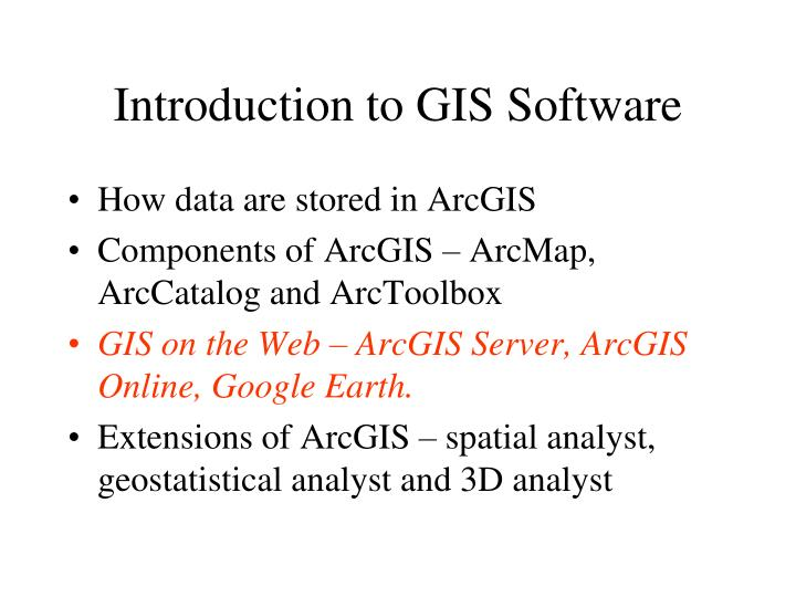 Introduction to GIS Software