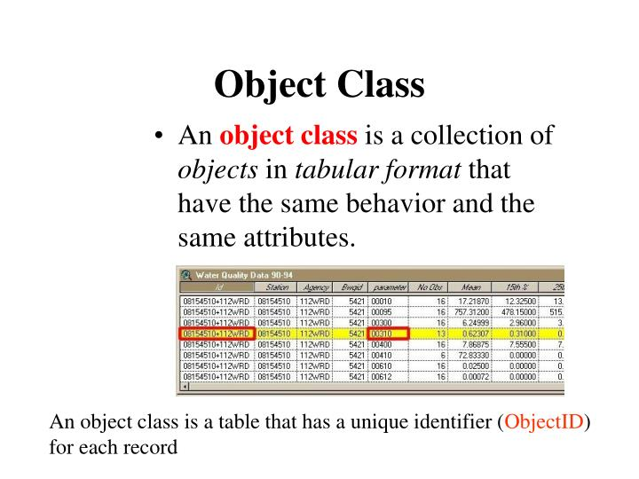 Object Class