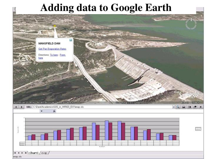 Adding data to Google Earth