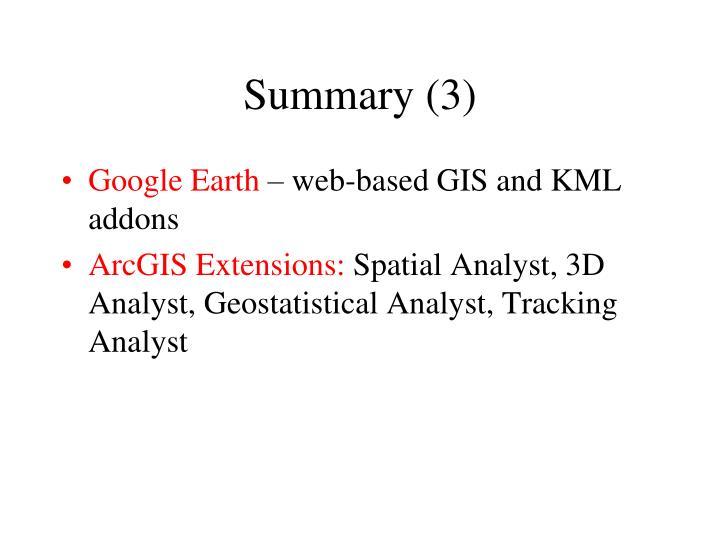 Summary (3)