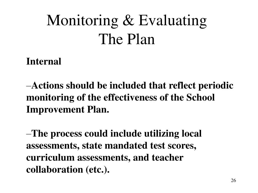 Monitoring & Evaluating The Plan