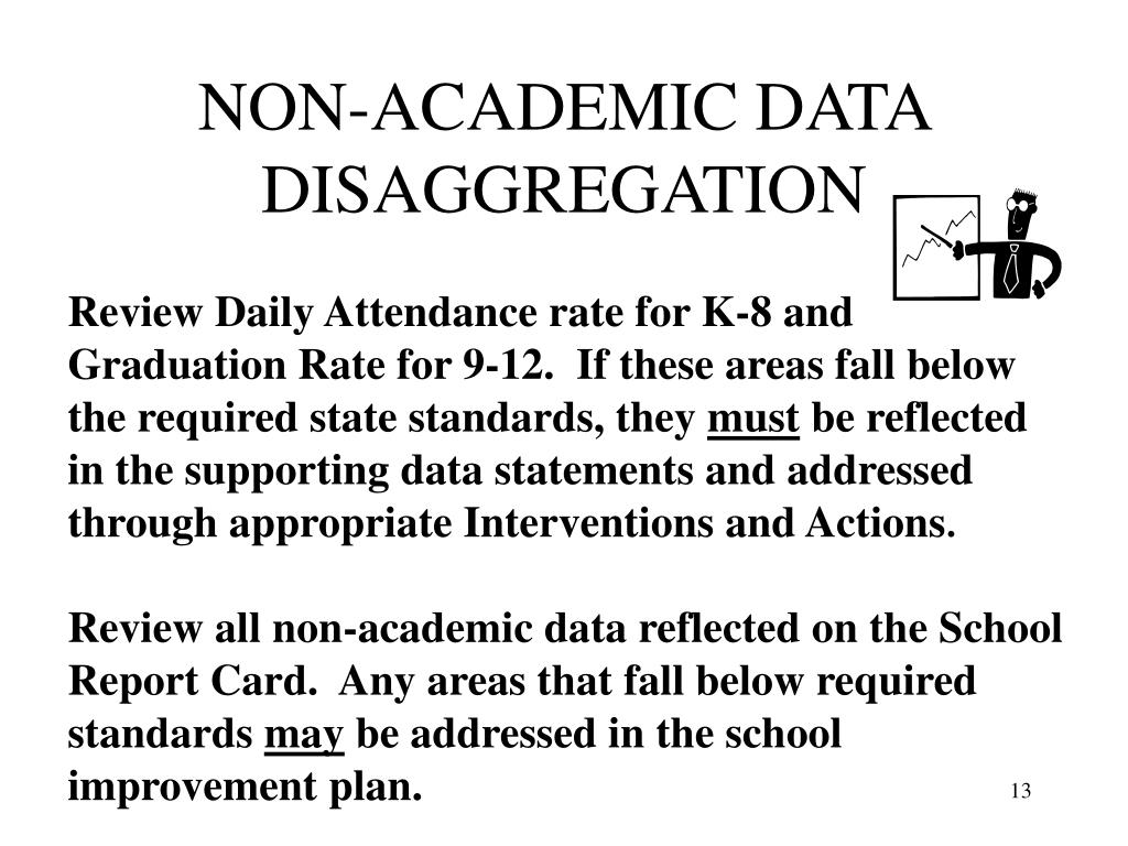 NON-ACADEMIC DATA DISAGGREGATION