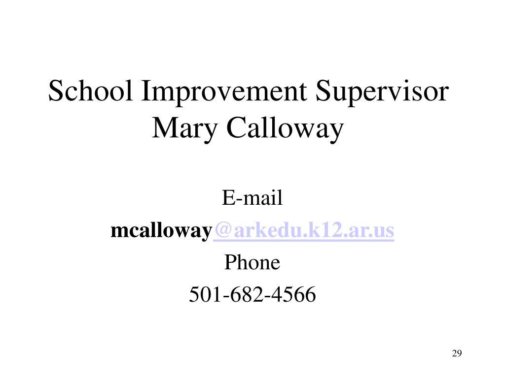 School Improvement Supervisor
