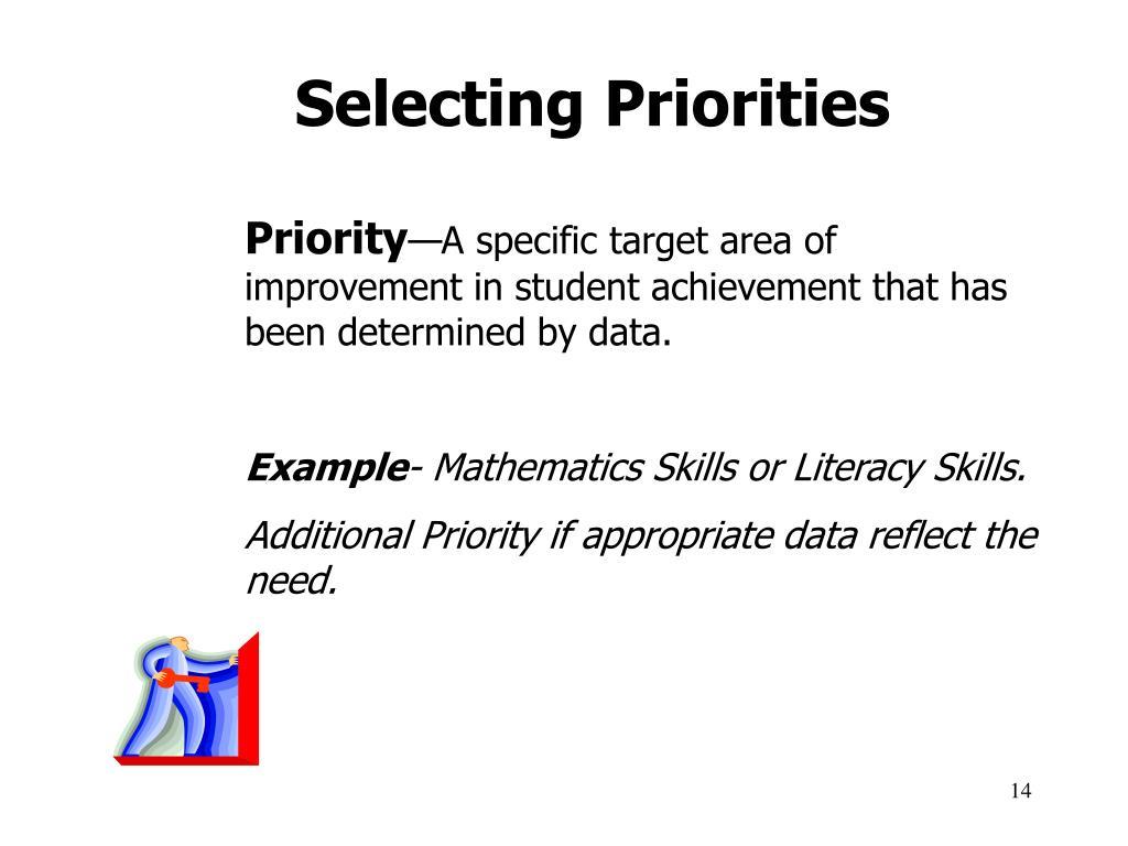 Selecting Priorities
