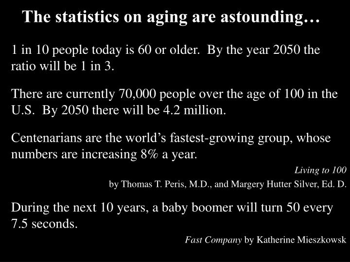 The statistics on aging are astounding…