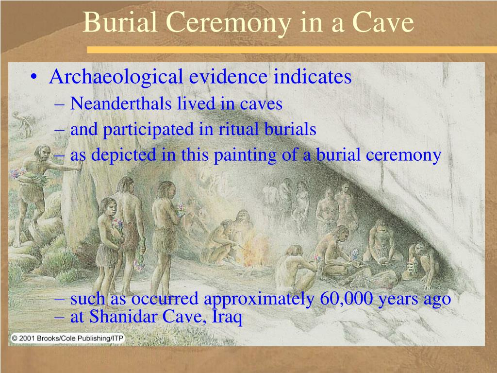 Burial Ceremony in a Cave