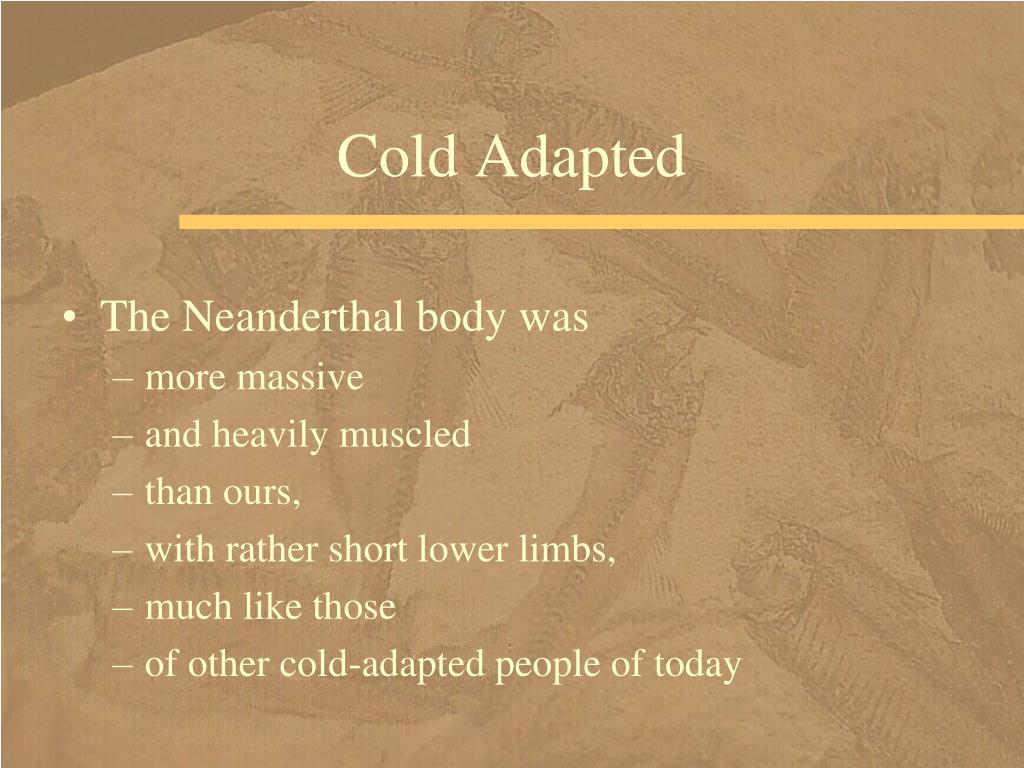Cold Adapted