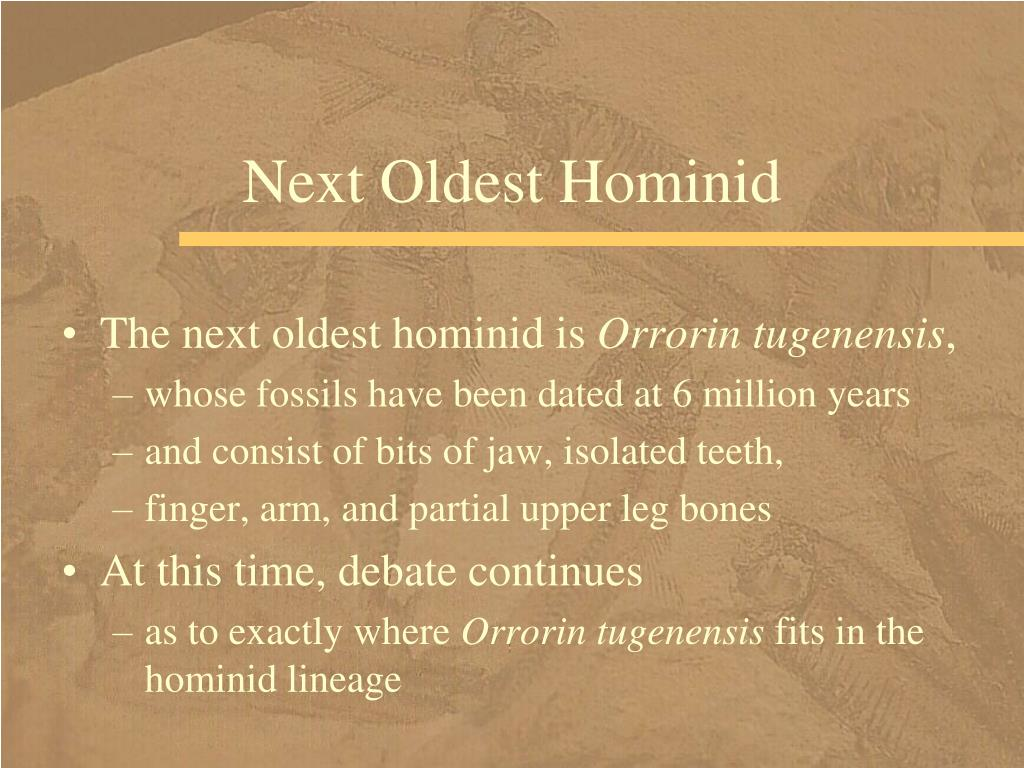 Next Oldest Hominid