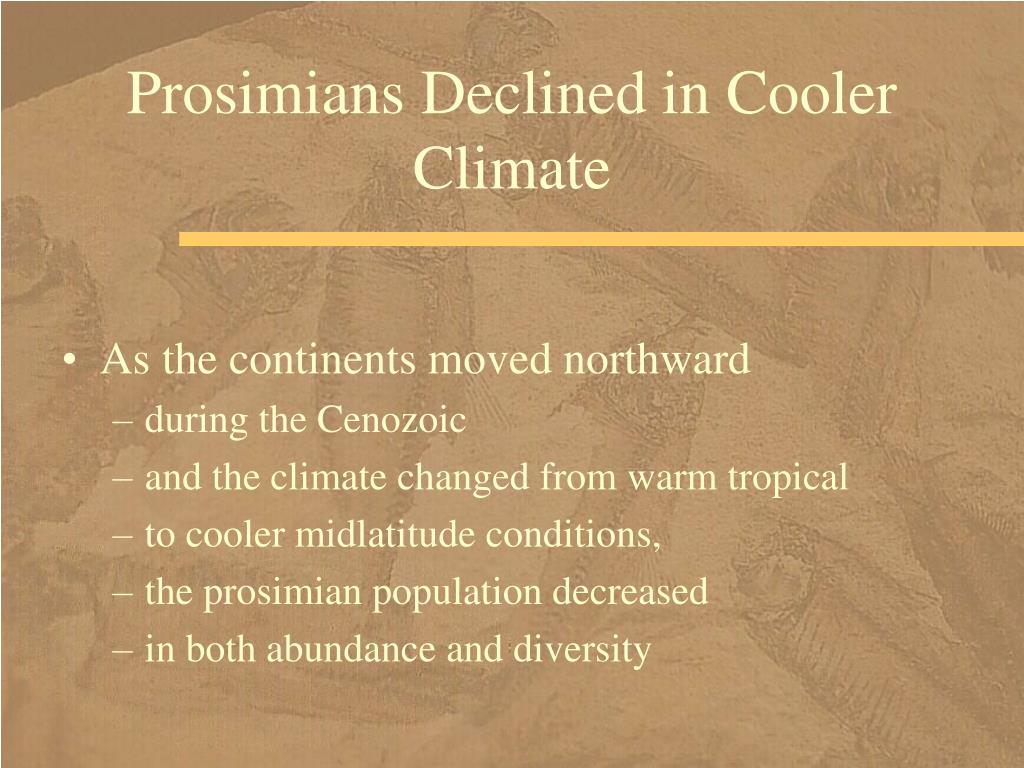 Prosimians Declined in Cooler Climate