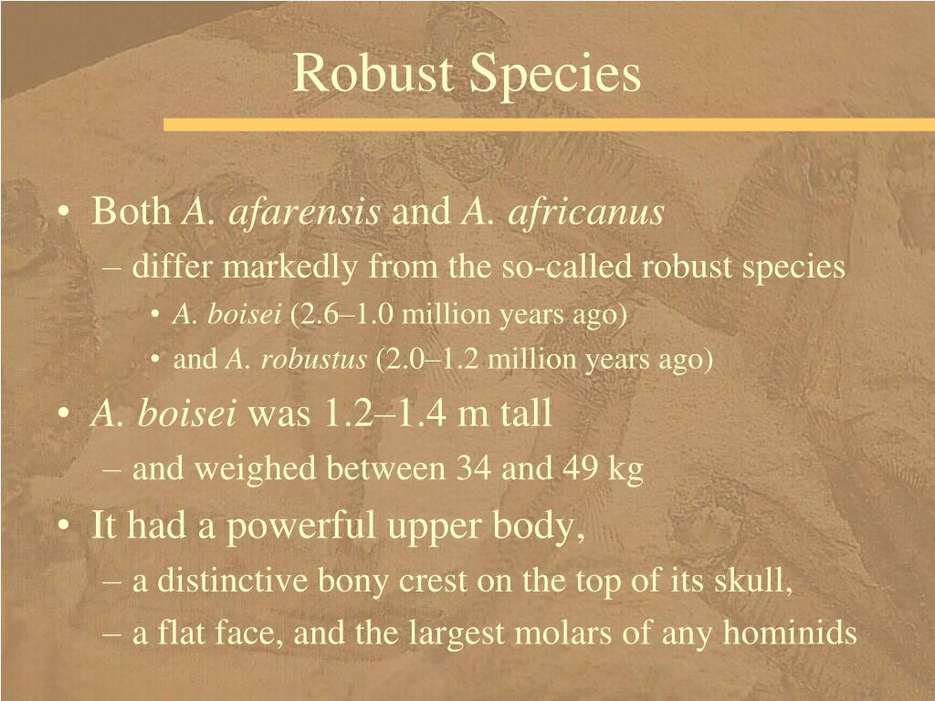 Robust Species