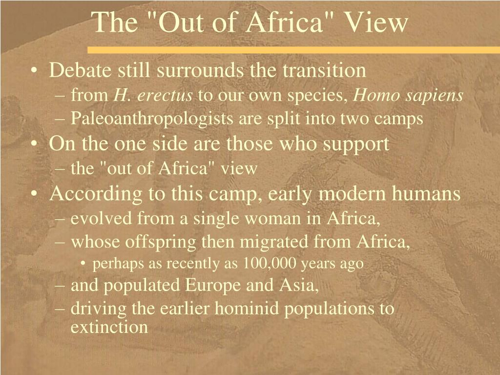 """The """"Out of Africa"""" View"""