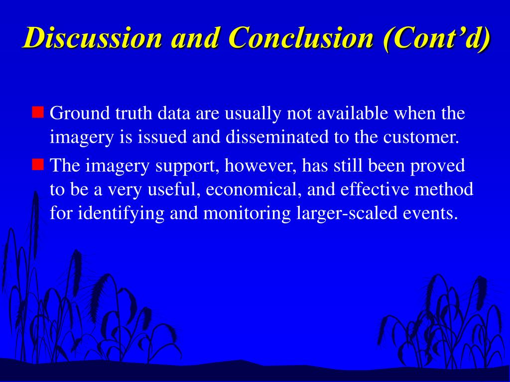 Discussion and Conclusion (Cont'd)