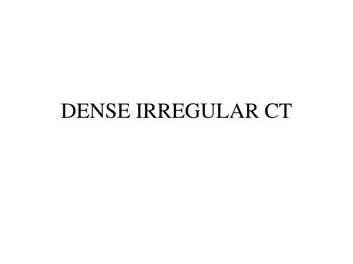 DENSE IRREGULAR CT