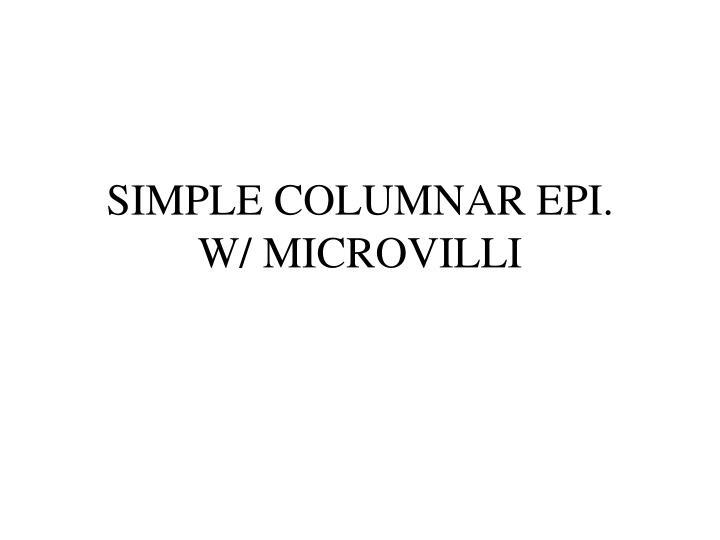 SIMPLE COLUMNAR EPI.
