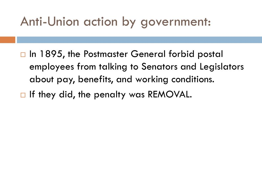 Anti-Union action by government: