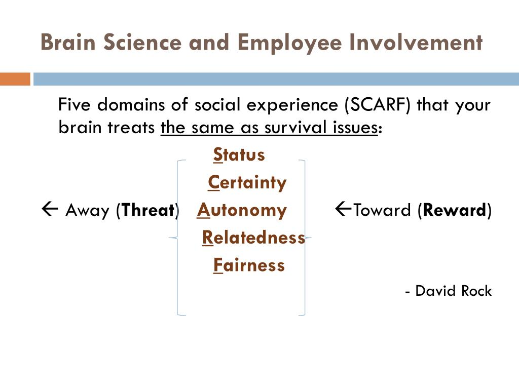 Brain Science and Employee Involvement