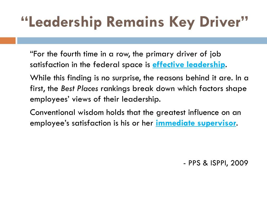 """Leadership Remains Key Driver"""