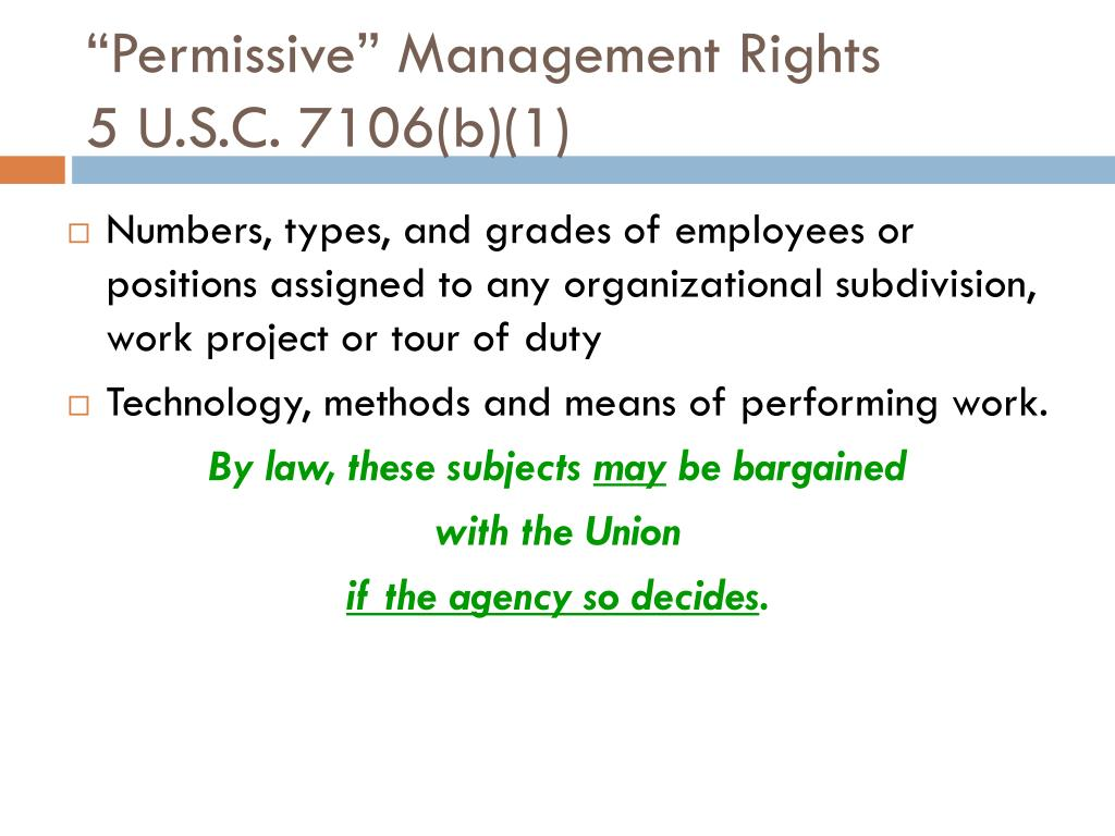 """Permissive"" Management Rights"