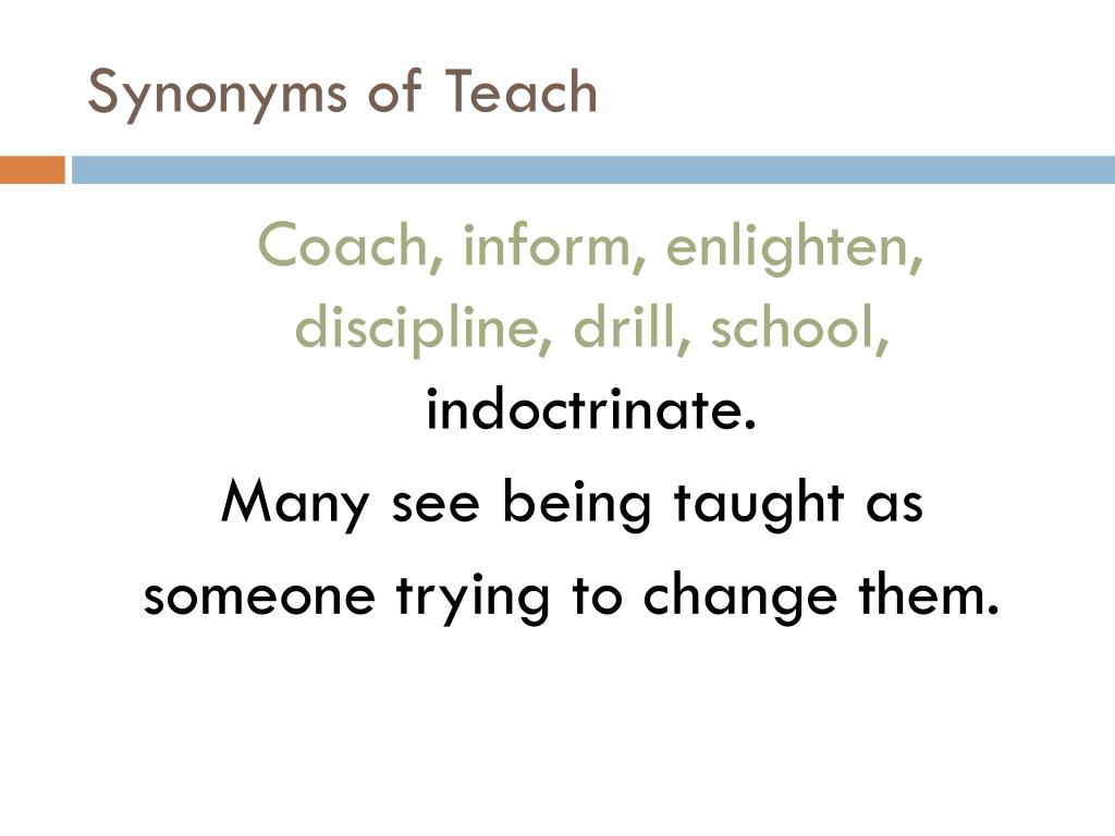 Synonyms of Teach