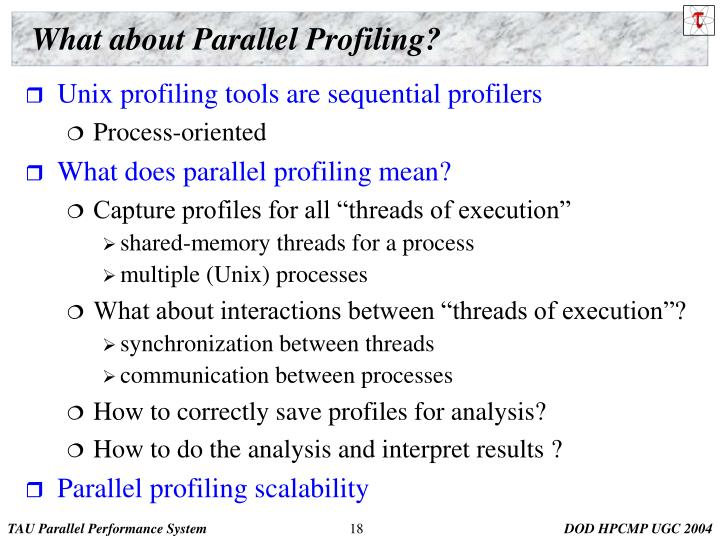 What about Parallel Profiling?