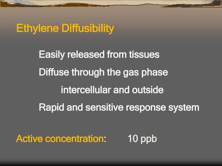 Ethylene Diffusibility