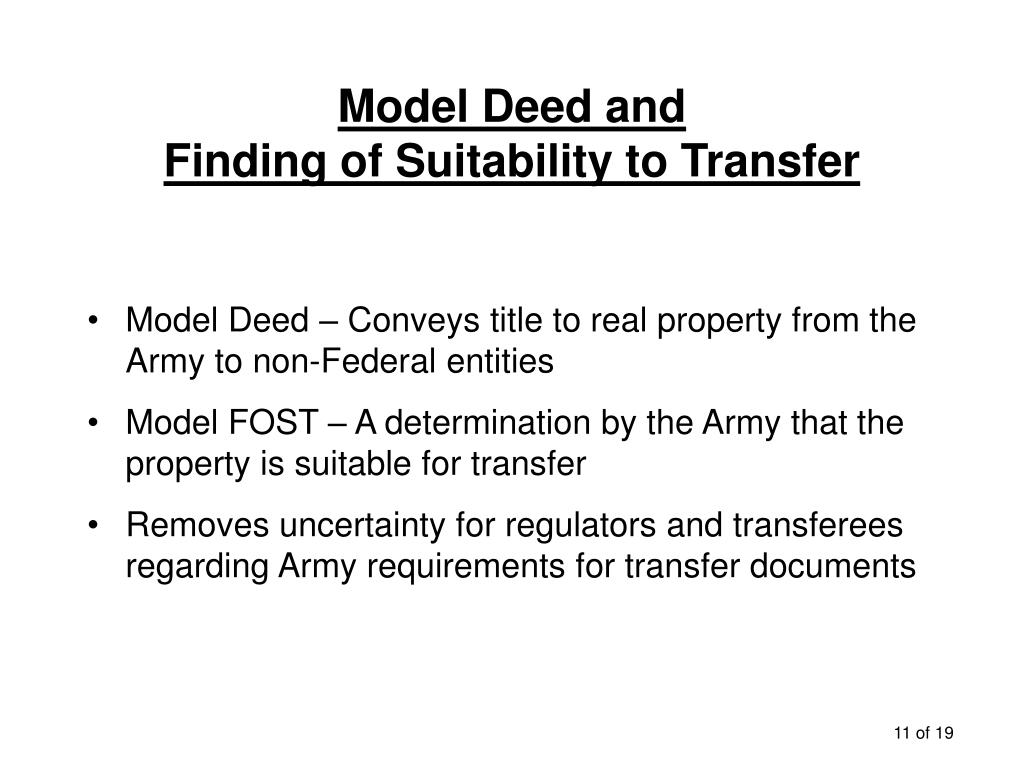 Model Deed and