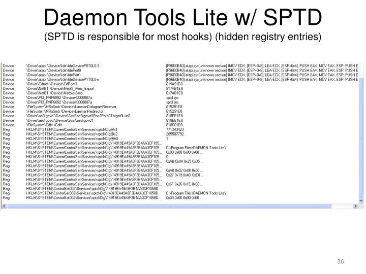 Daemon Tools Lite w/ SPTD