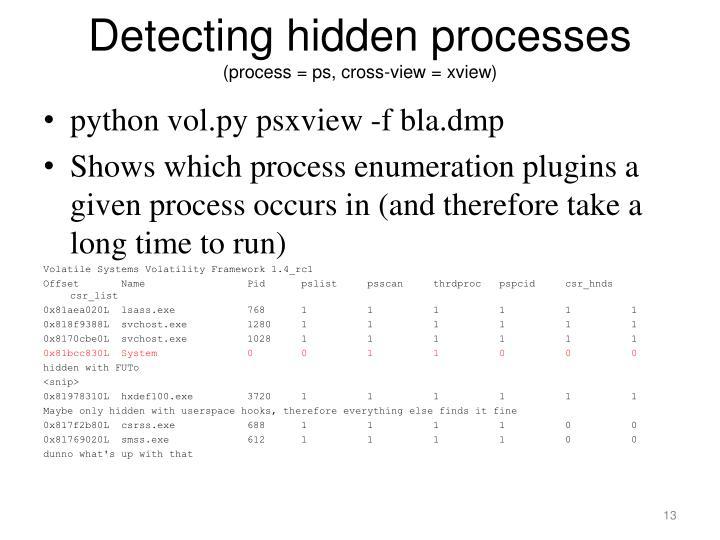Detecting hidden processes