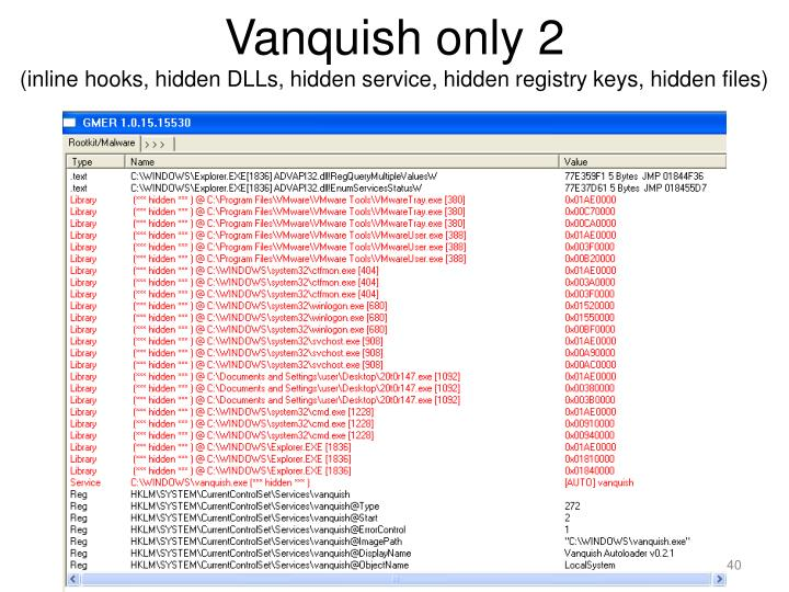 Vanquish only 2