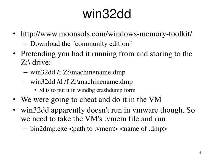 win32dd