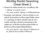 windbg rootkit searching cheat sheet 2