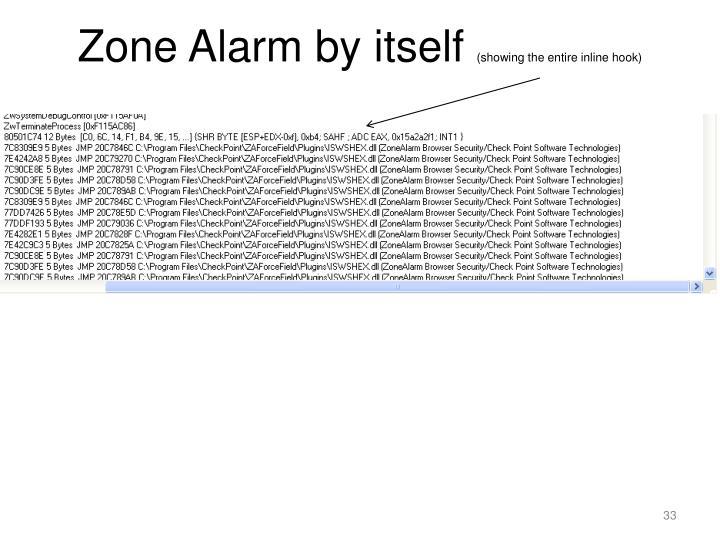 Zone Alarm by itself