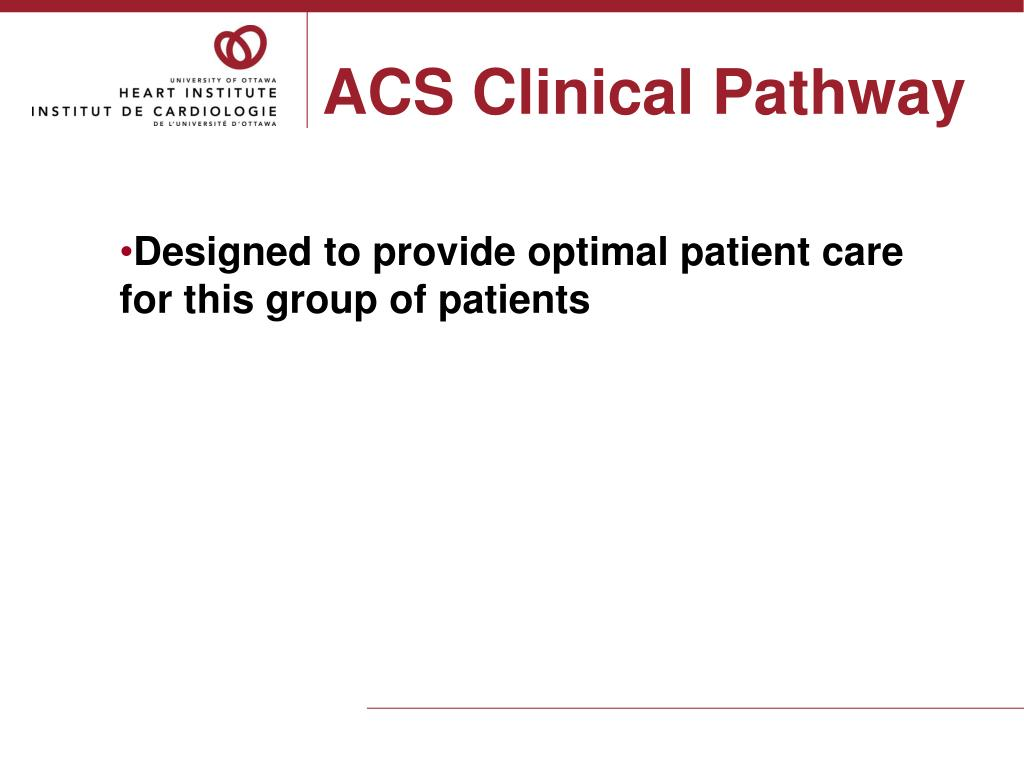 ACS Clinical Pathway