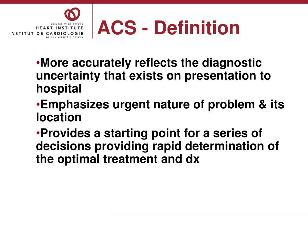 ACS - Definition