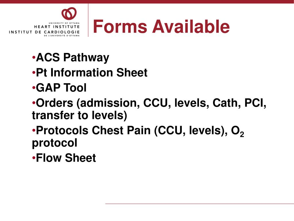 Forms Available