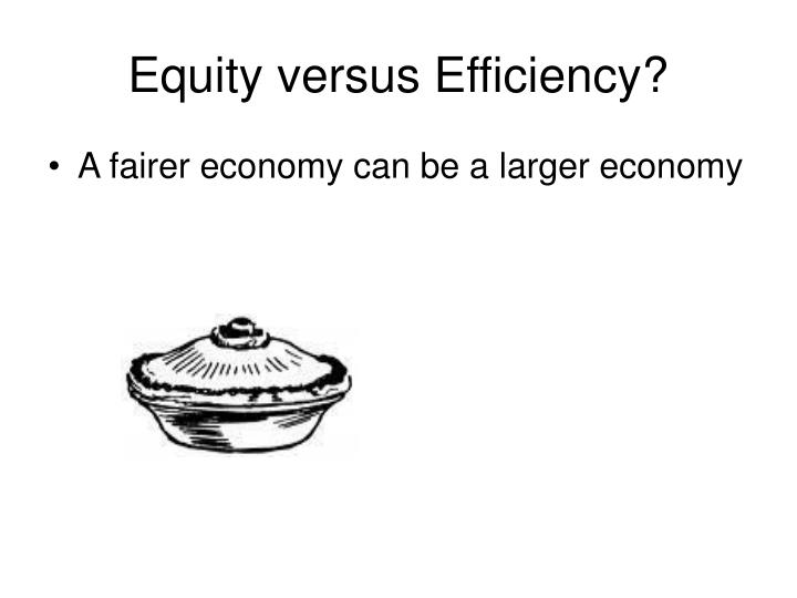 Equity versus Efficiency?