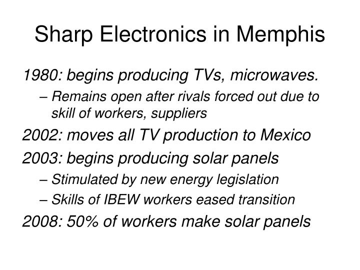 Sharp Electronics in Memphis