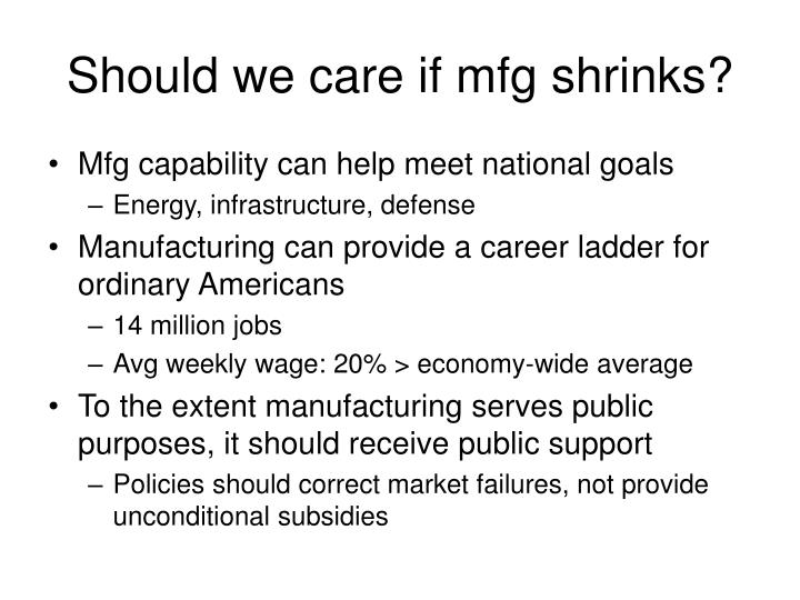 Should we care if mfg shrinks?