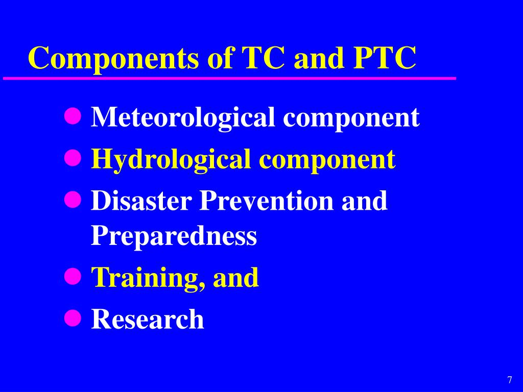 Components of TC and PTC