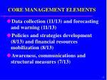 core management elements